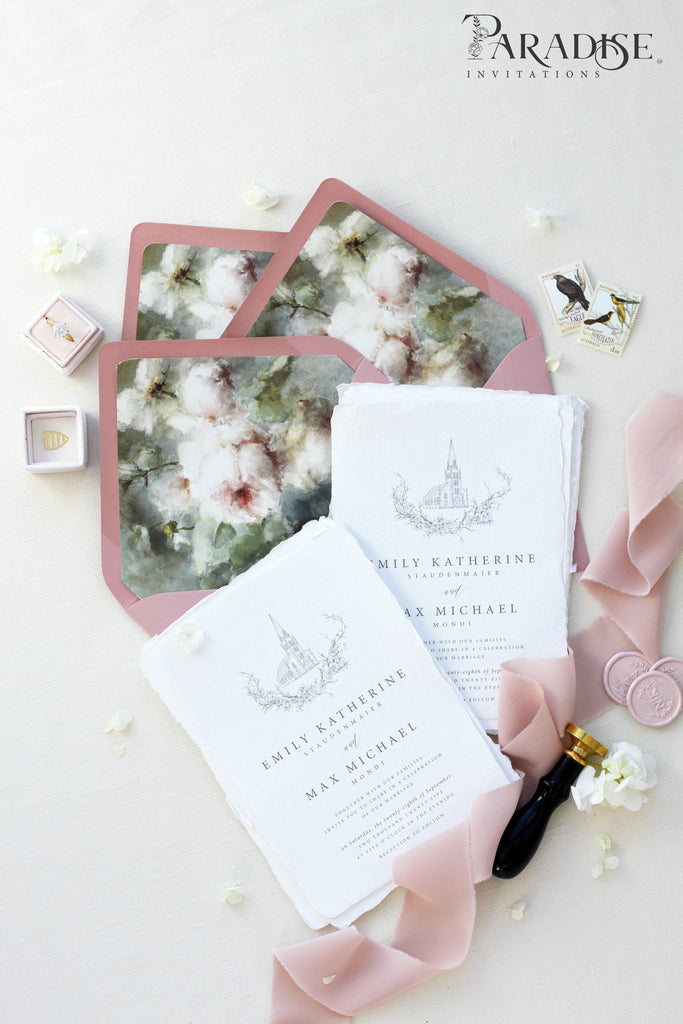 Chereen Handmade Paper Wedding Invitation Sets