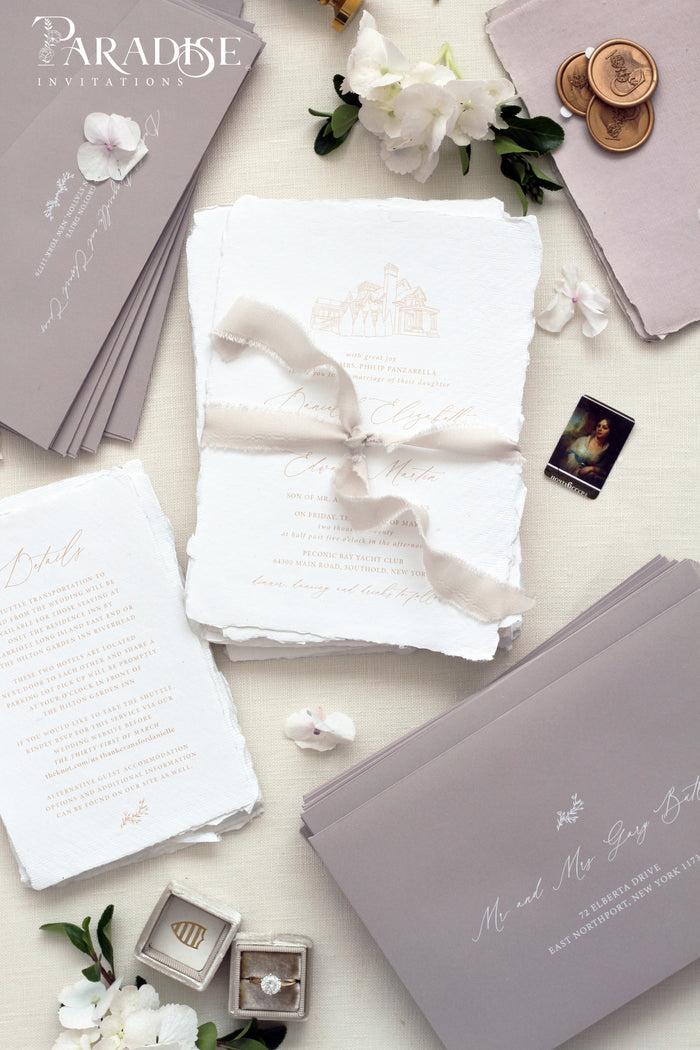 Amarante Handmade Wedding Invitation