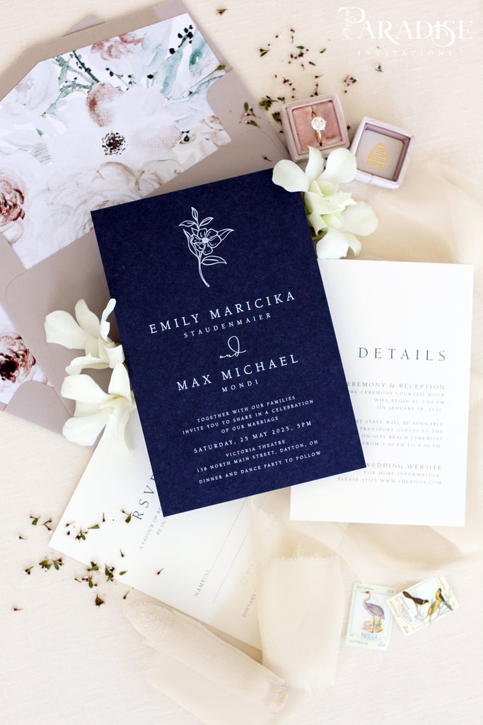 Arya Navy Wedding Invitation