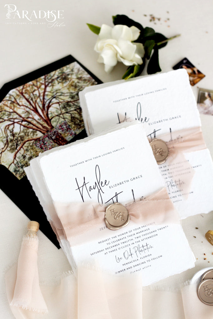 Aviana Handmade Paper Wedding Invitation Sets