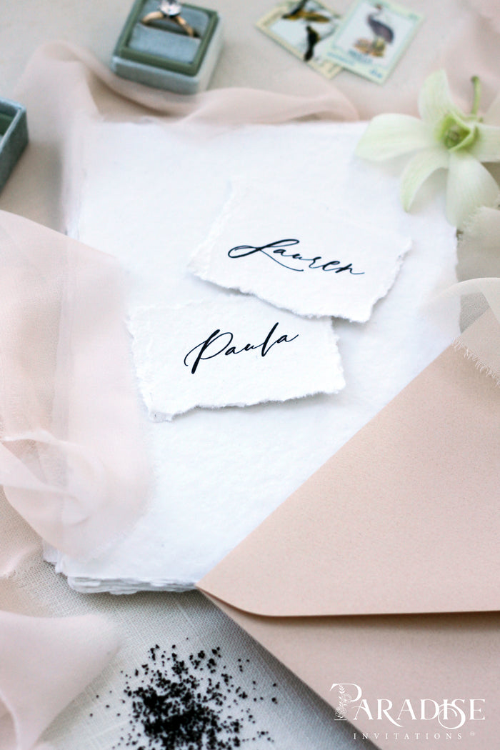 Mariann Handmade paper Place Cards