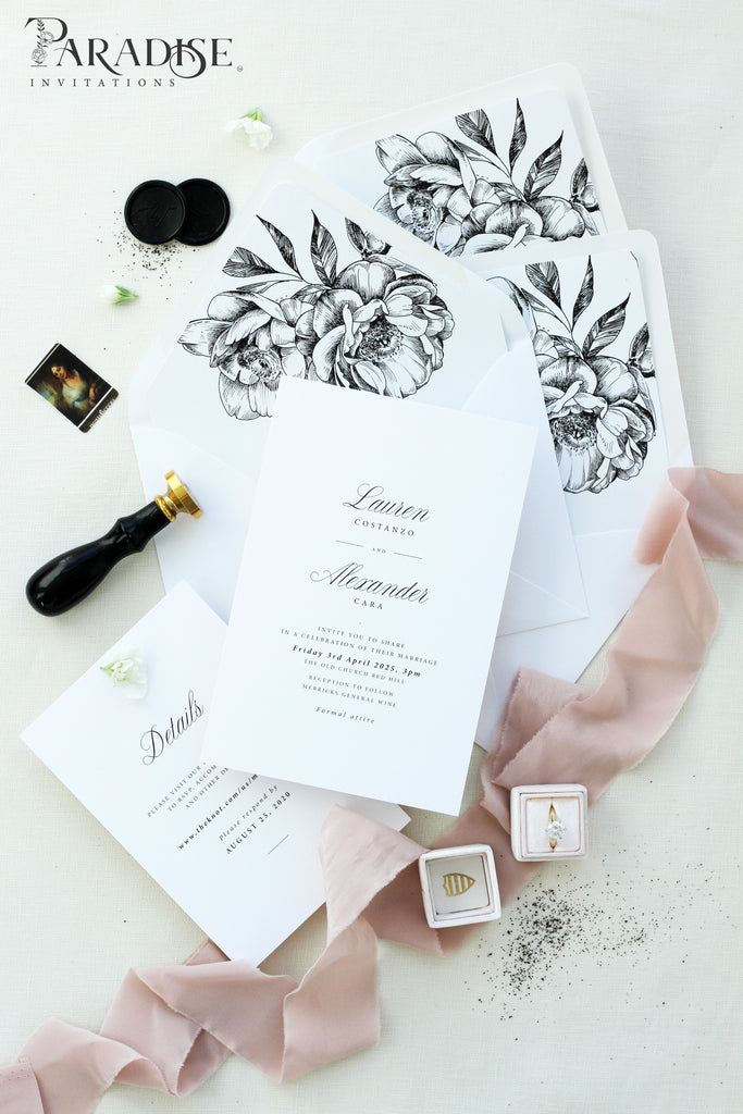 Livy Elegant Wedding Invitation Sets