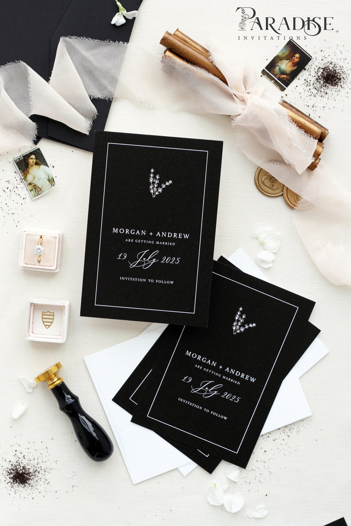 Constancia Elegant Frame Save the Date