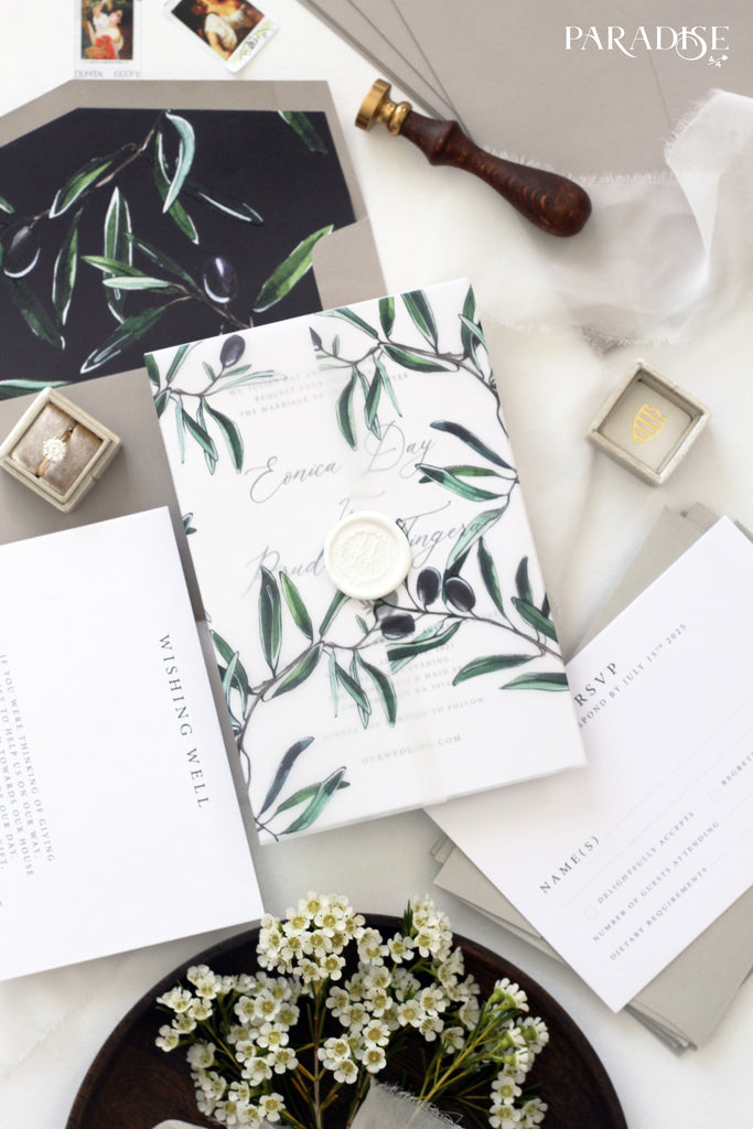 photograph relating to Printable Save the Date named Oliphie Watercolor Olive Conserve the Day