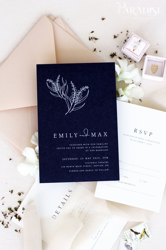 Kylie Navy Wedding Invitation Sets