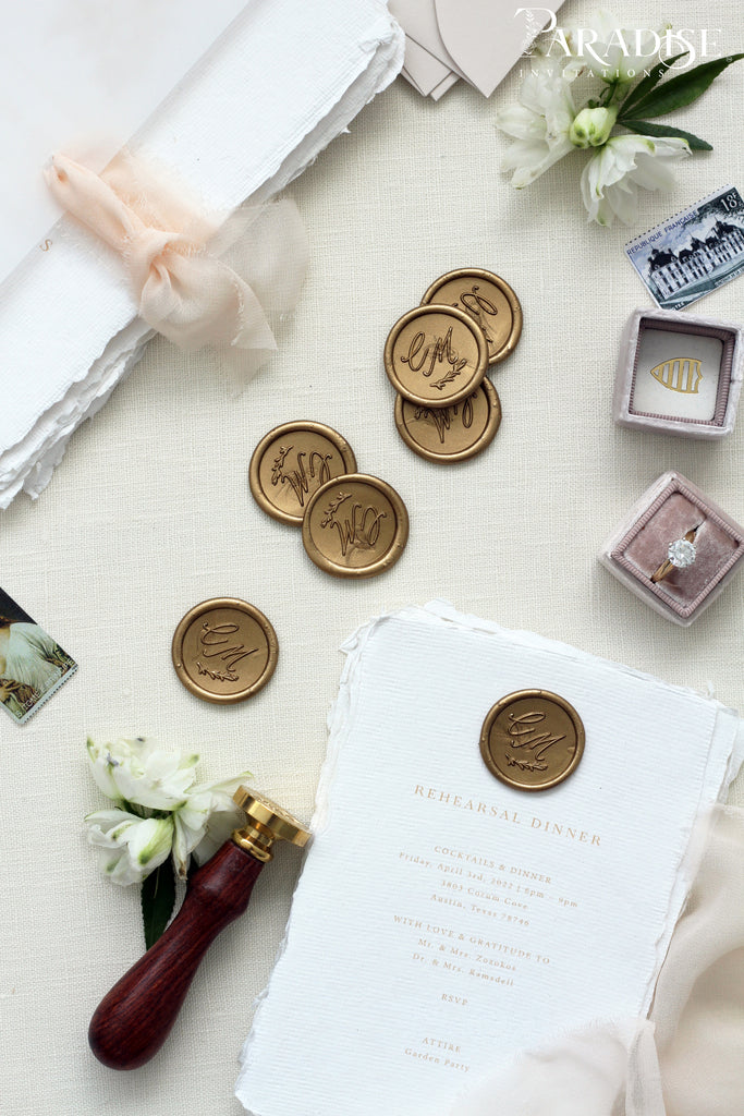 Golden Wax Seals