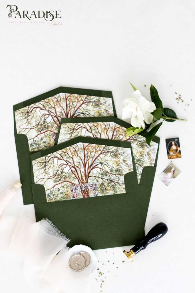 Wild Rose Envelopes with Floral Envelope Liners