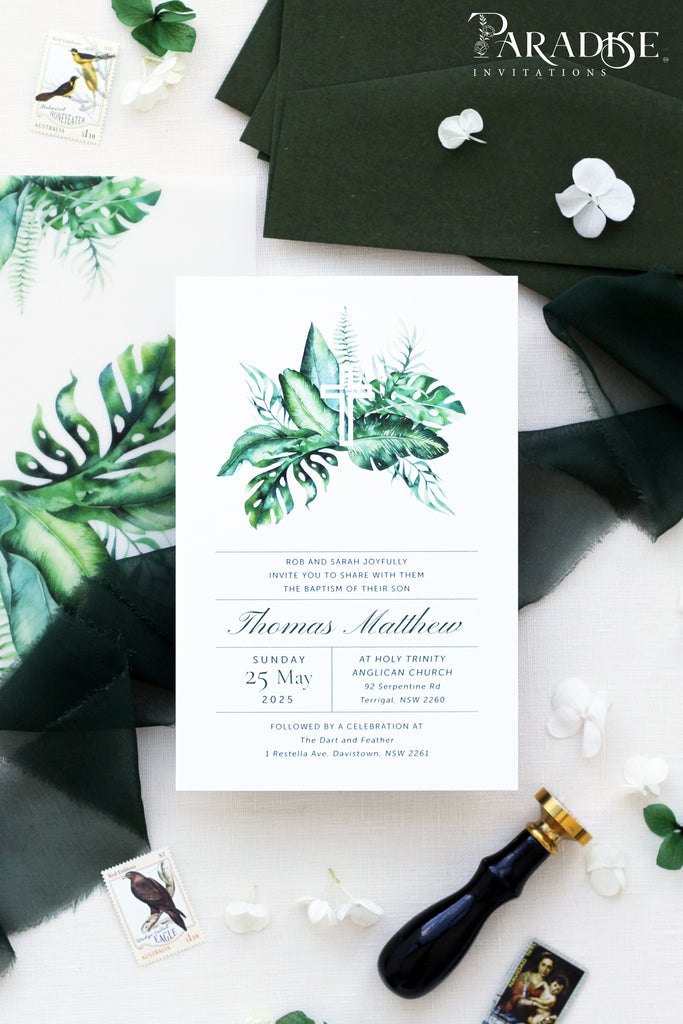 Lucille Greenery Christian Invitation
