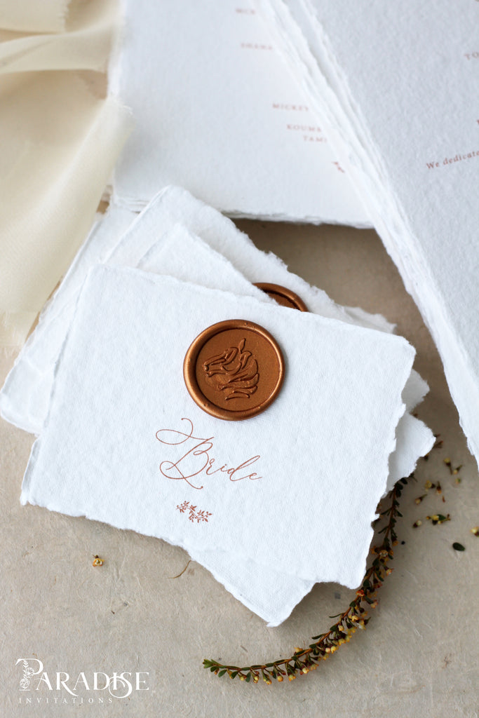 Handmade Paper Wedding Programs