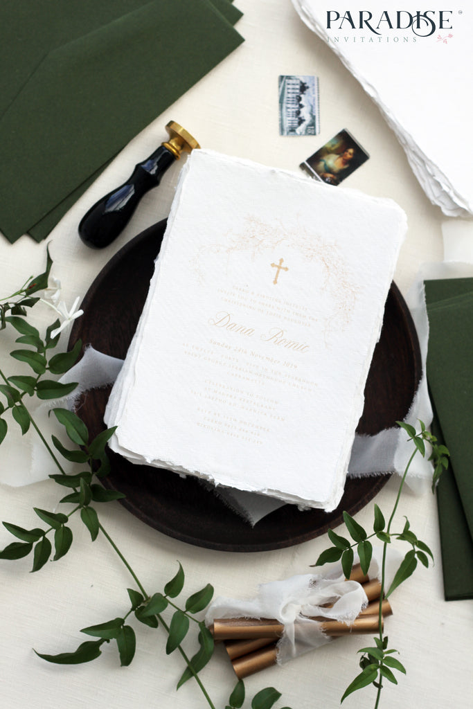 Calanthe Handmade Christian Invitation