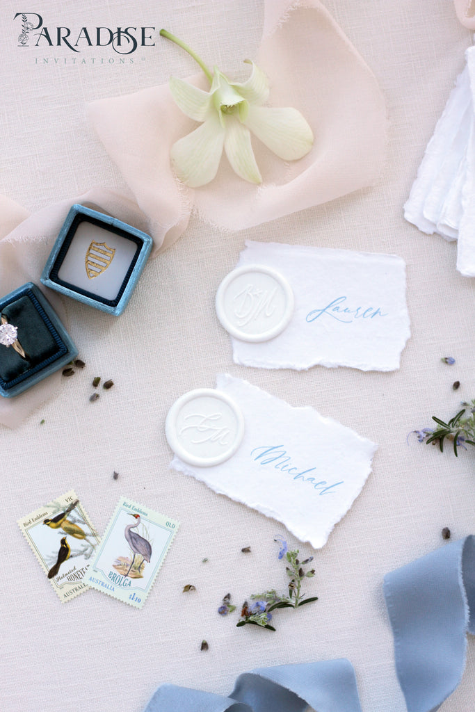 Marquisa Handmade paper Place Cards