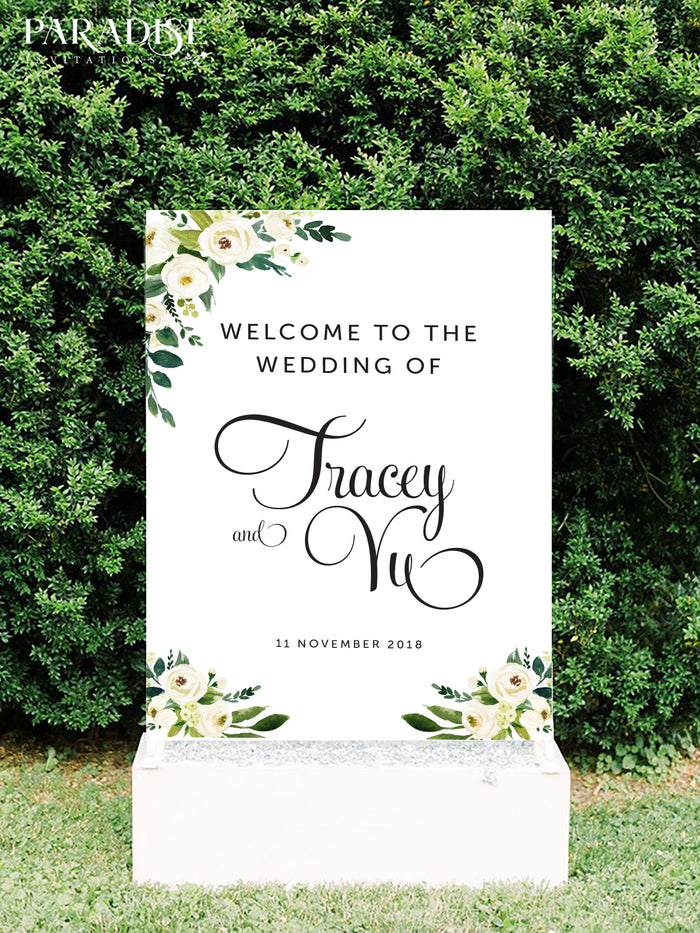 Fabrienne Wedding Welcome Sign