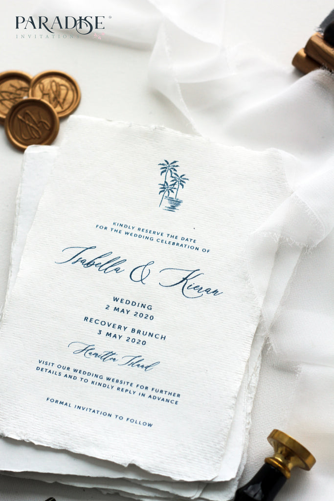 Elliana Handmade Paper Save the Date