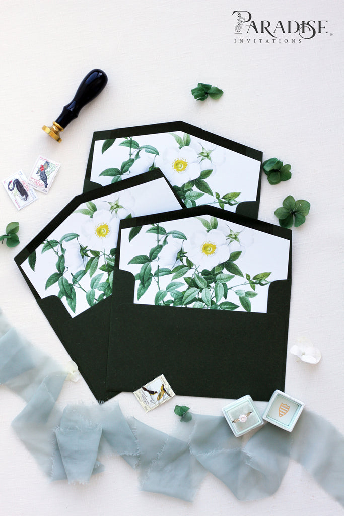 Green Foliage Envelope Liners