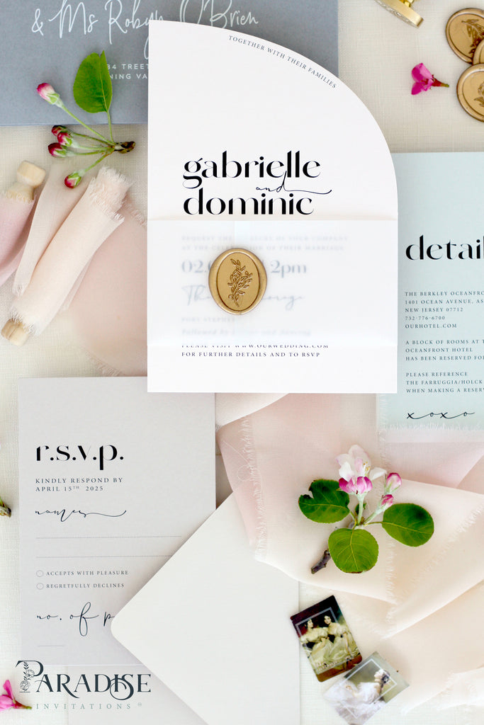 Portia Half Arch Wedding Invitation Sets