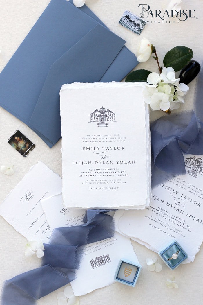Corette Handmade Paper Wedding Invitation Sets