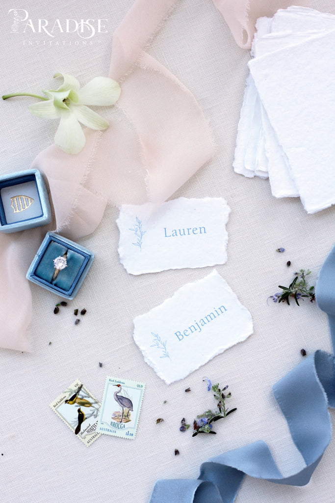 Maryl Handmade paper Place Cards