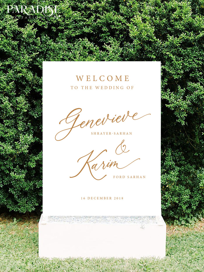 Fawne Wedding Welcome Sign