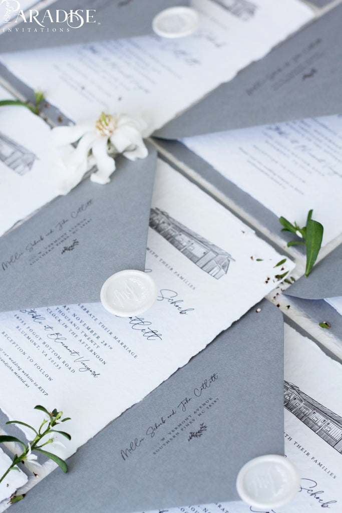 Artemis Handmade Paper Wedding Invitation Sets