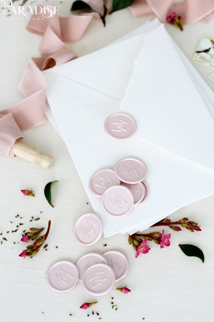 Custom Blush Wax Seals