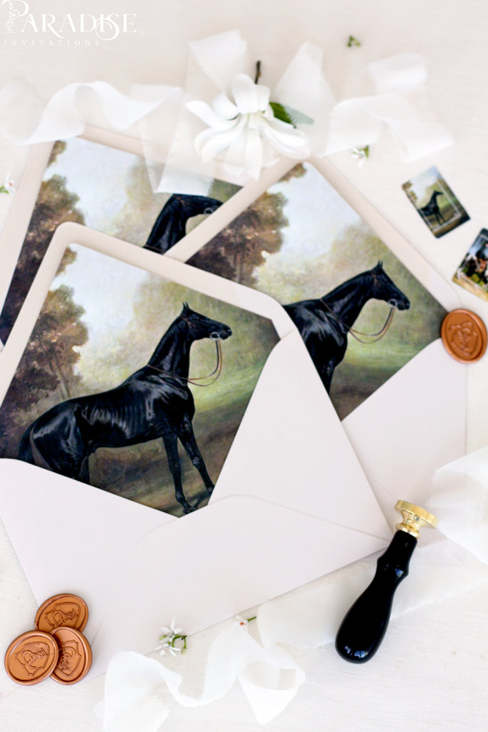 Drawn Horse Envelope Liners