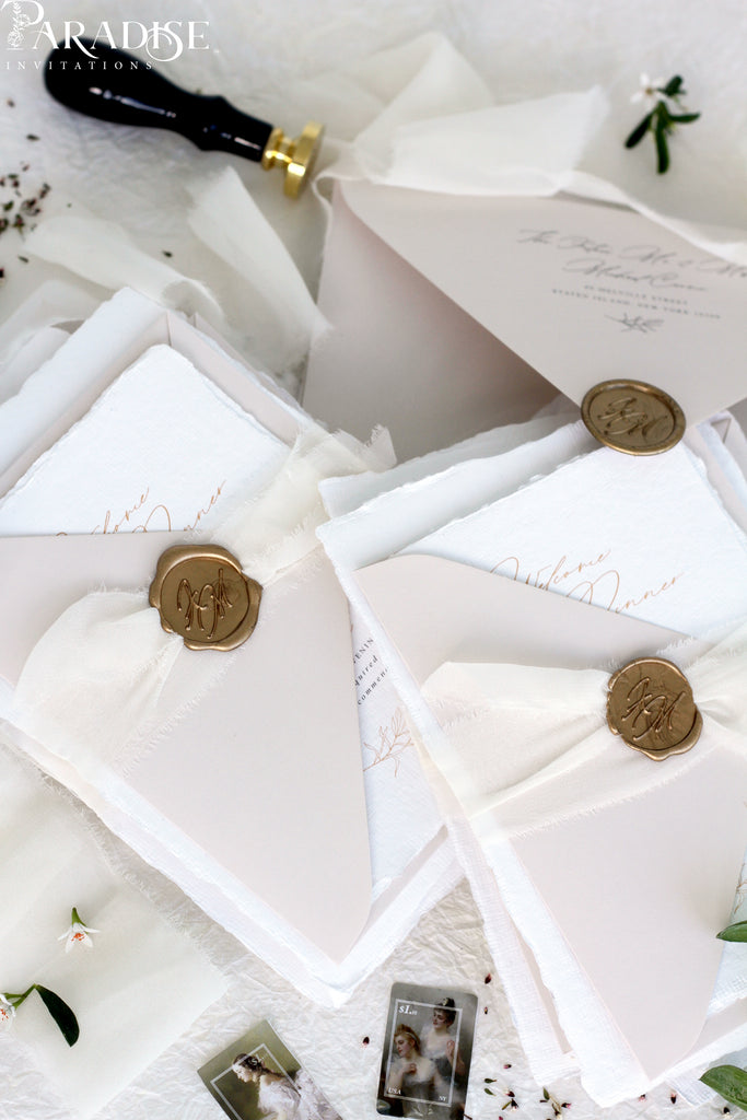 Bianca Handmade Paper Wedding Invitation Sets