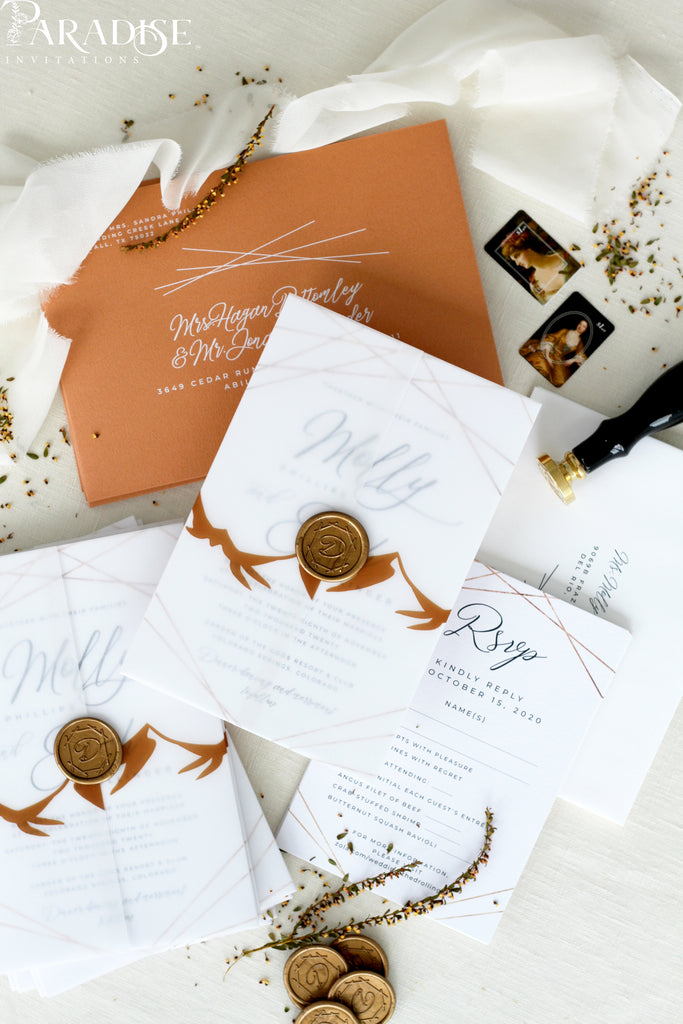 Carina Terracotta Wedding Invitation