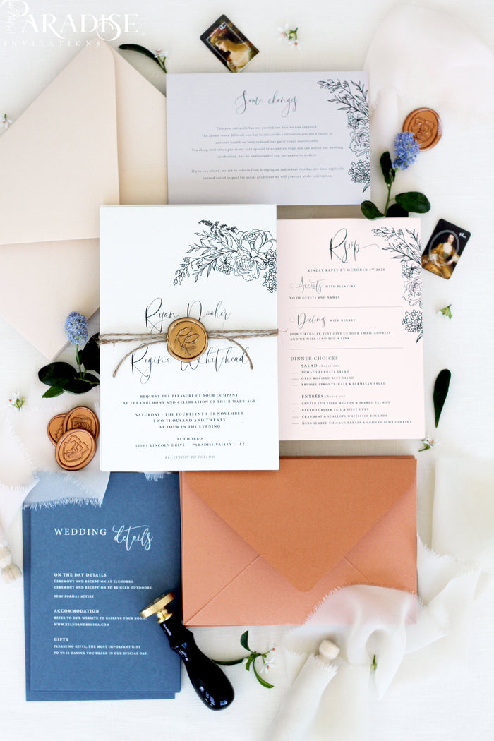 Alexandria Bohemian Wedding Invitation