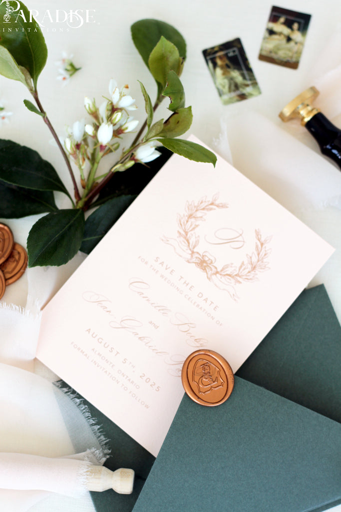 Jolie Monogram Save the Date Cards