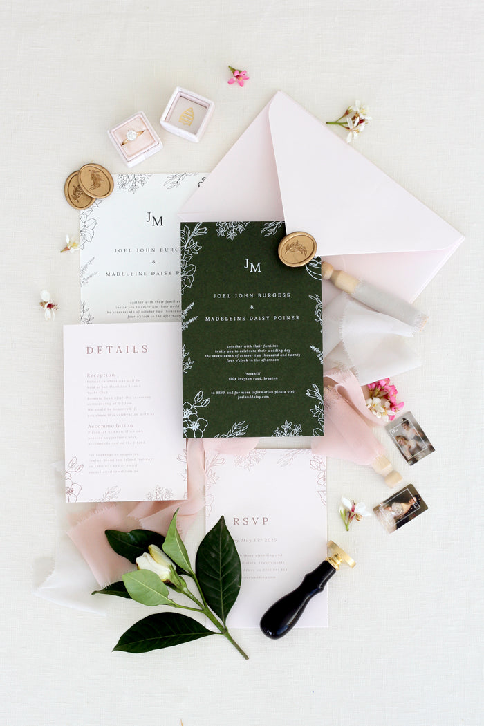 Danae Wedding Invitation Sets