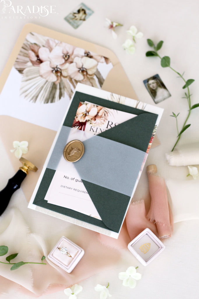 Frida Bohemian Wedding Invitation Set