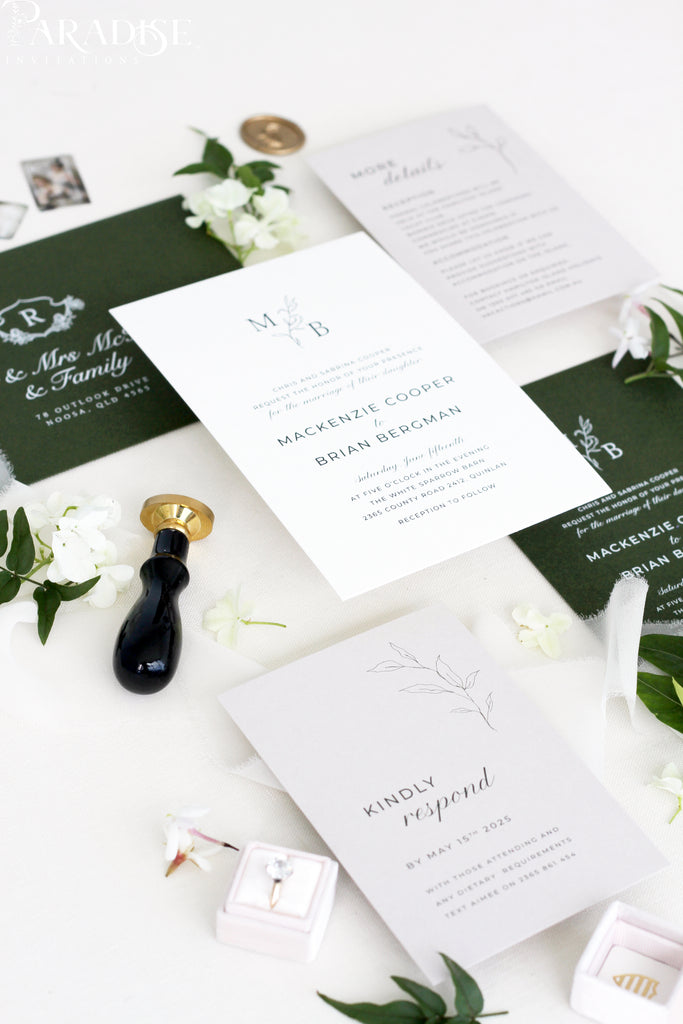 Capri Modern Wedding Invitation Set