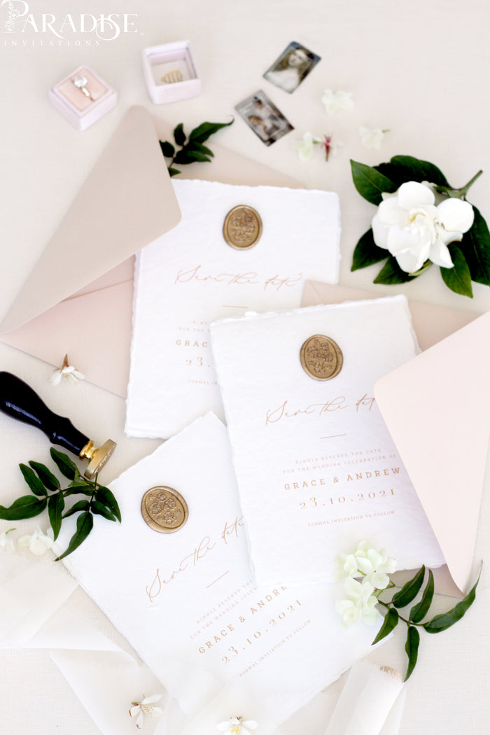 Willa Handmade Save the Date Cards