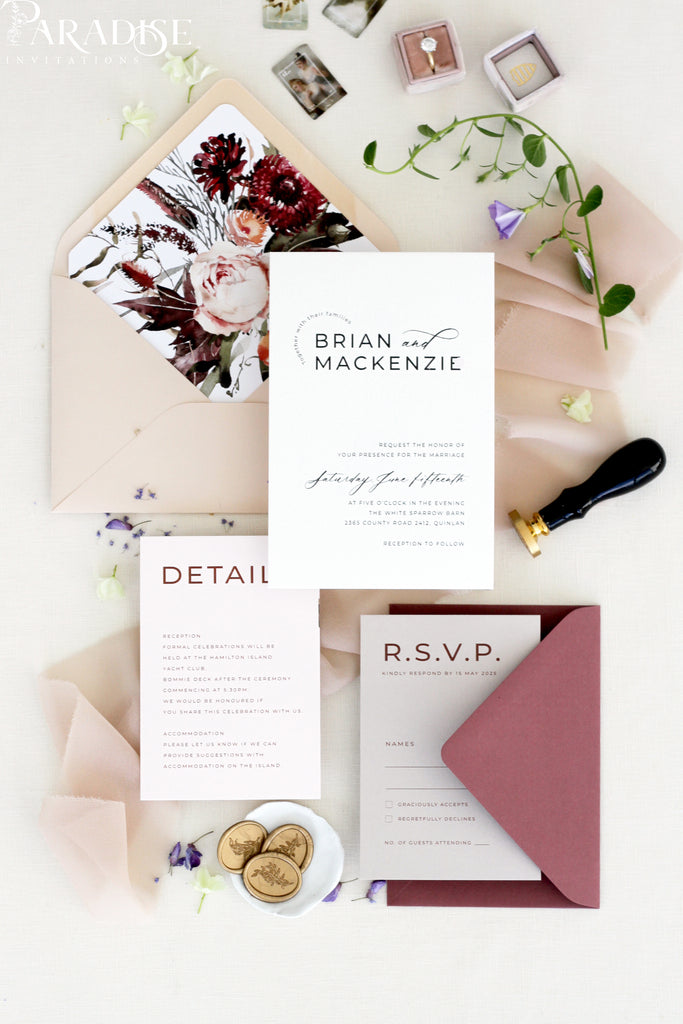 Virginia Wedding Invitation Set
