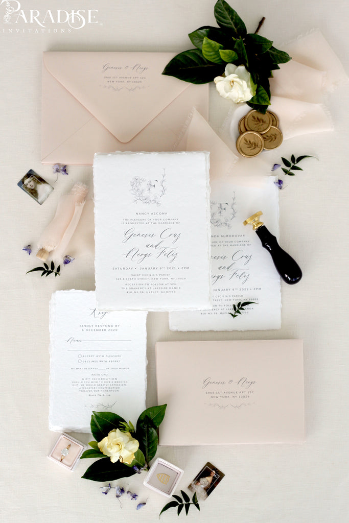 Tatyana Handmade Paper Wedding Invitation Sets