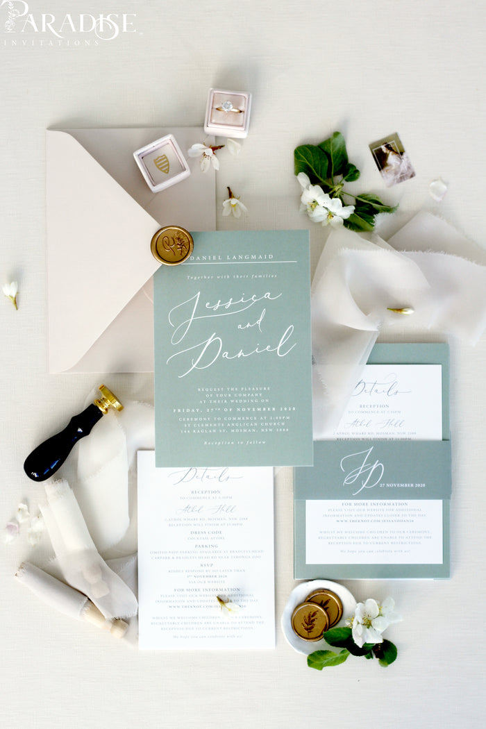 Alannah Sage Wedding Invitation