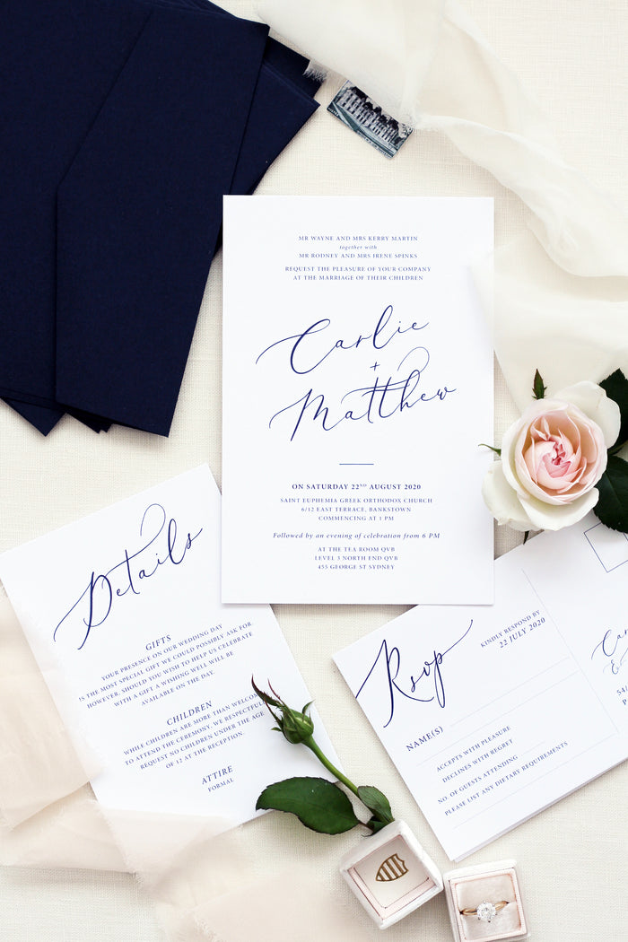 Laurei Elegant Wedding Invitations