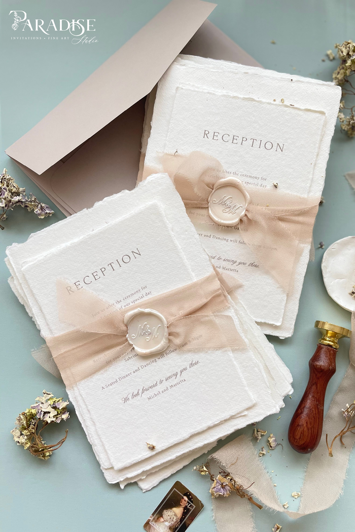 Marietta Handmade Paper Wedding Invitation Sets