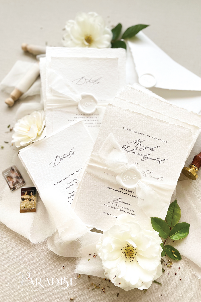 Manijeh Handmade Paper Wedding Invitation Sets