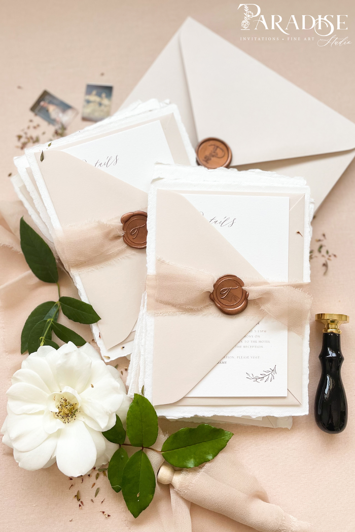 Brianna Handmade Paper Wedding Invitation Sets