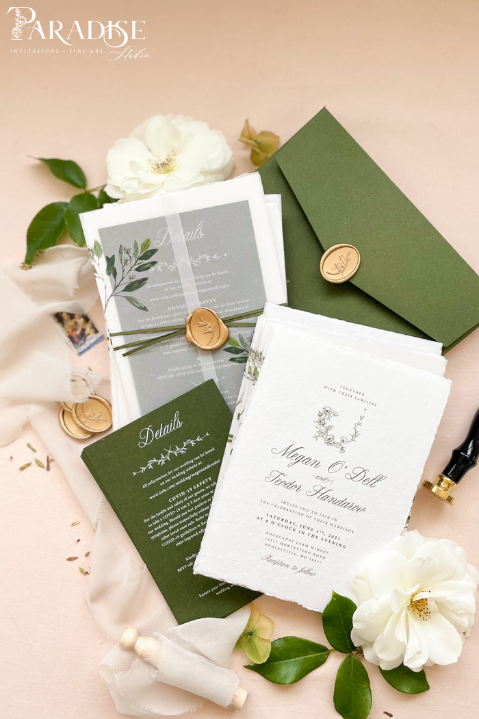 Ryleigh Handmade Paper Wedding Invitation Sets