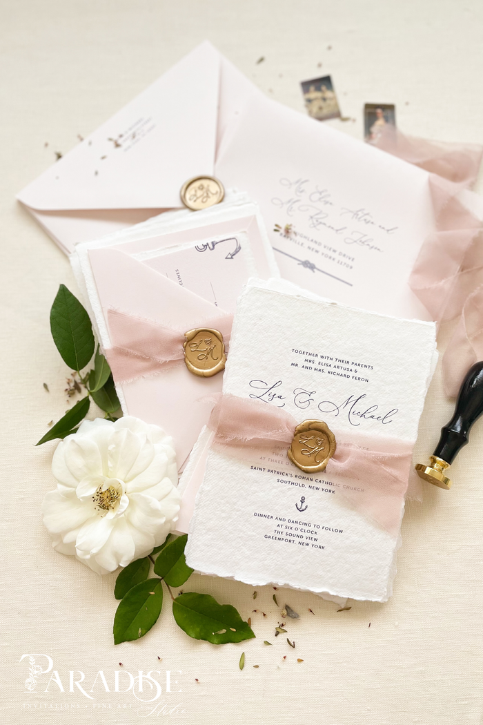 Therese Handmade Paper Wedding Invitation Sets