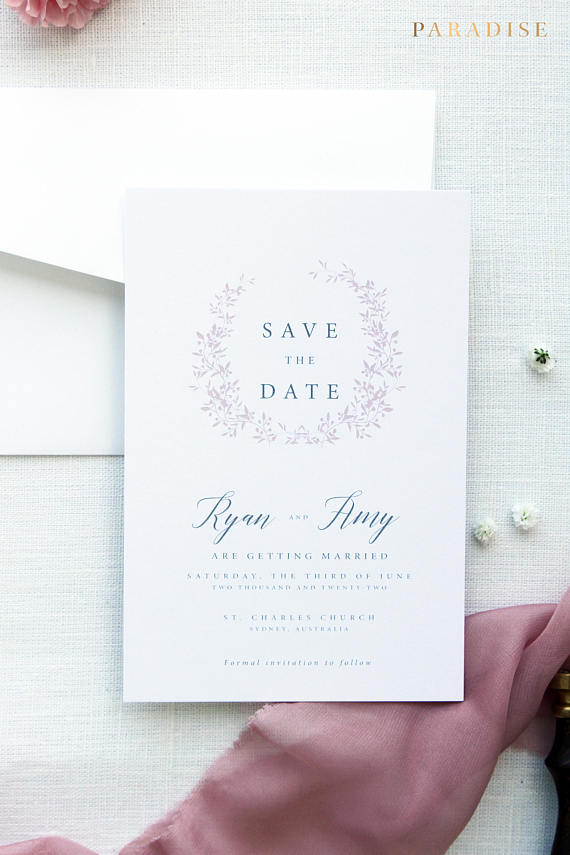 Francesca Silver Save the Date
