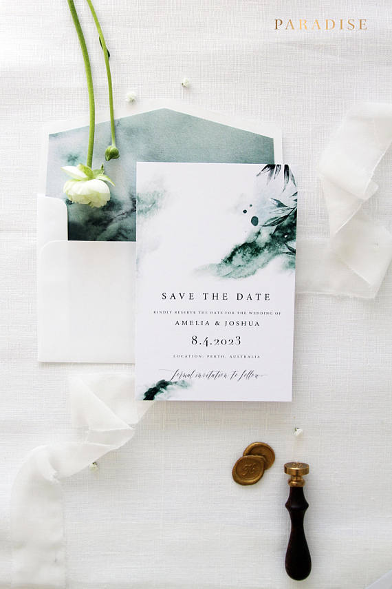 Joselyn Watercolor Save the Date