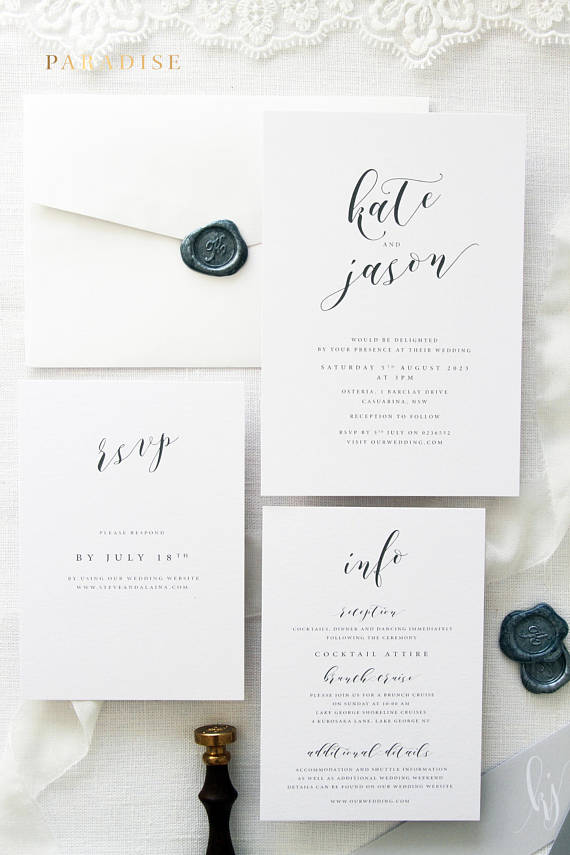 Janessa Silver Wedding Invitation