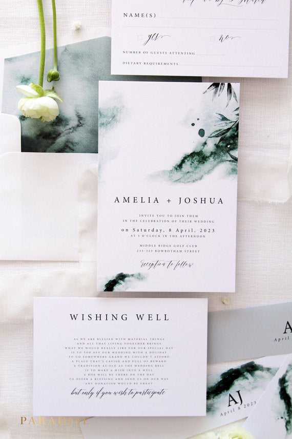 photo relating to Wedding Stationery Printable named Joselyn Watercolor Wedding day Invitation