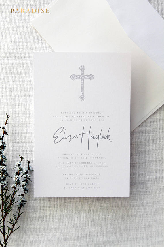 Christian and Baptism Invitations