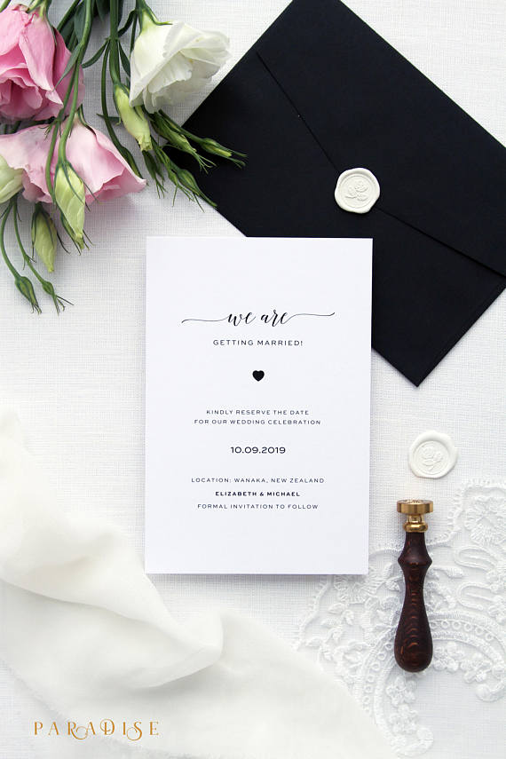 Save the Date Cards Printable Save the Date Cards