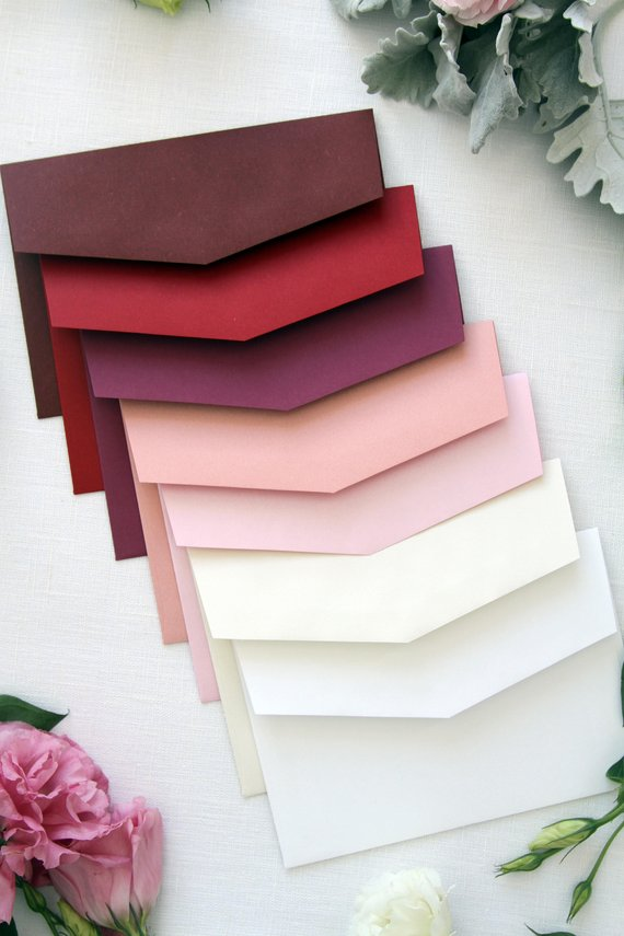 Burgundy, Red and Pink Envelopes