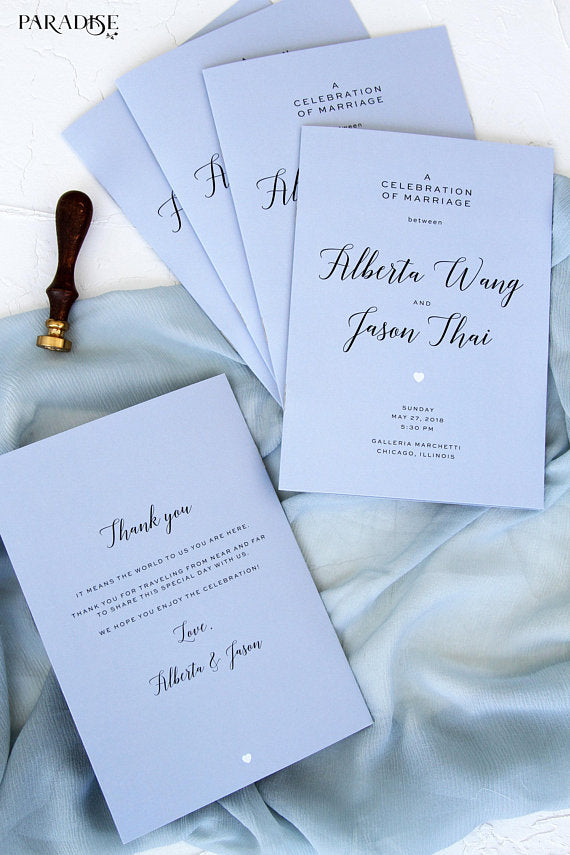 Wedding Programs, Printable Wedding Programs, printed wedding programs, type: stationery